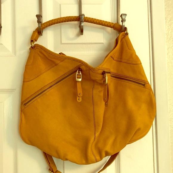 Banana Republic Handbags - Mustard leather crossbody bag    Banana Republic 171f5ac7cbd36